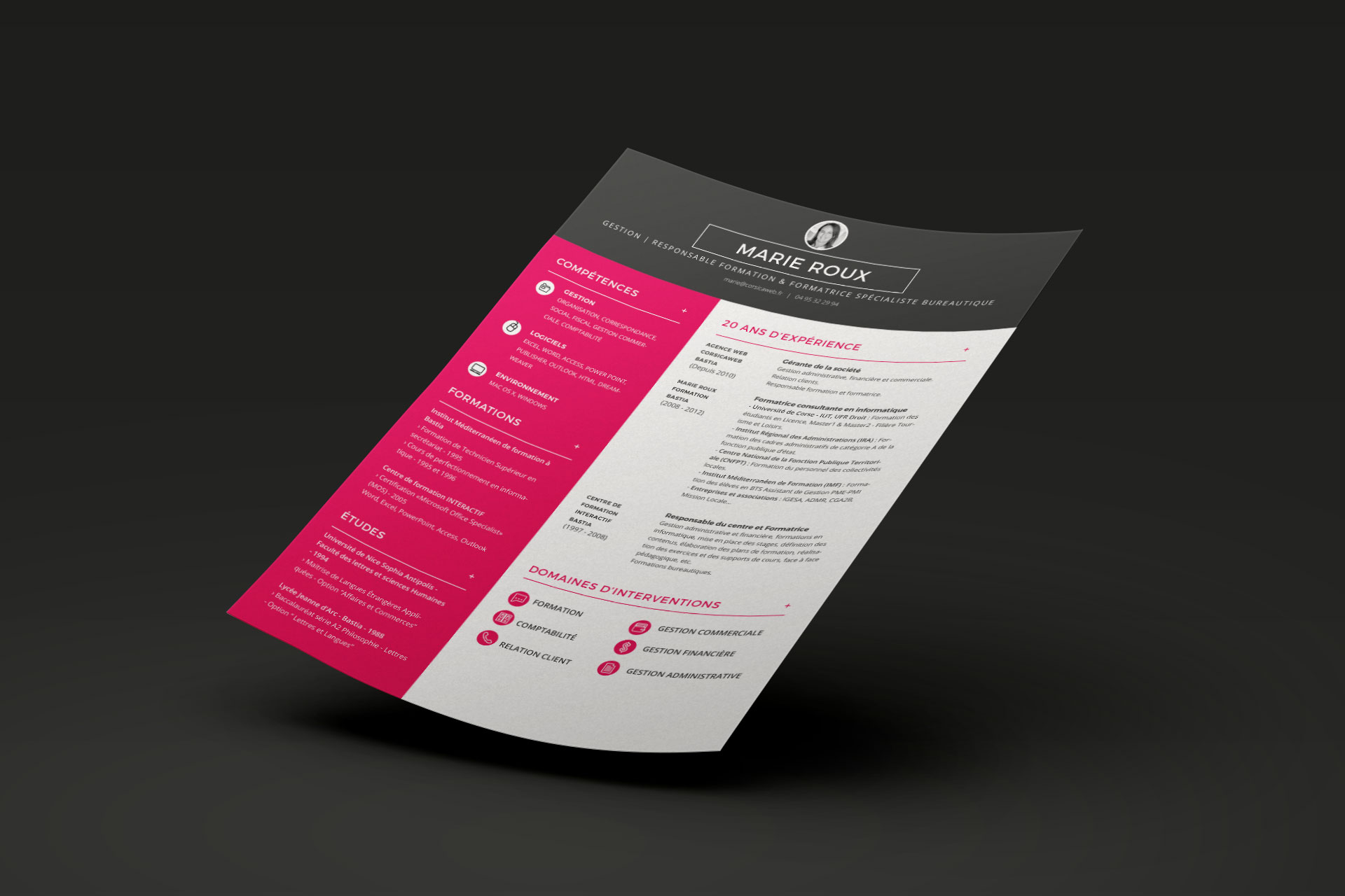 cr u00e9er un cv design avec illustrator