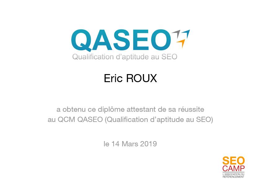 Expertise SEO : diplôme QASEO